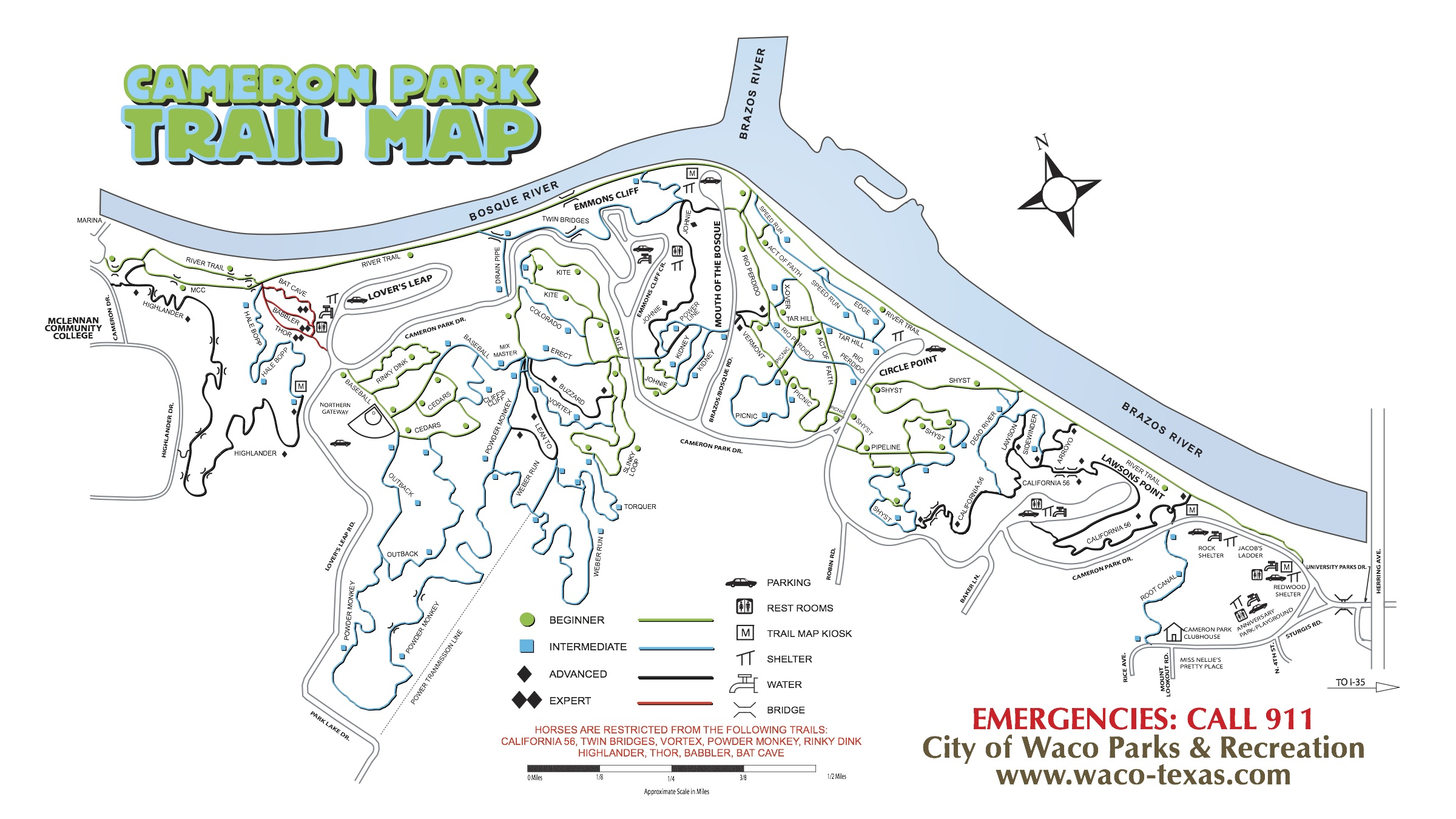 Cameron_Park_Trail_Map_Waco_TX