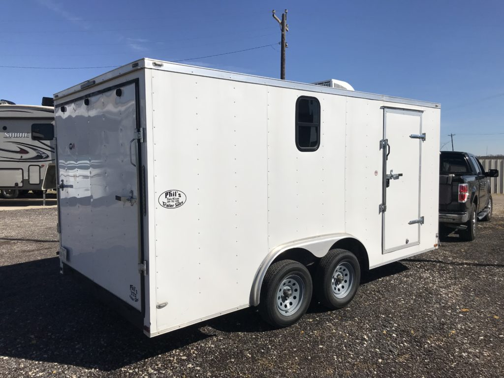Window Install Enclosed Cargo Trailer Conversion Mongoz Wiring A Total 570